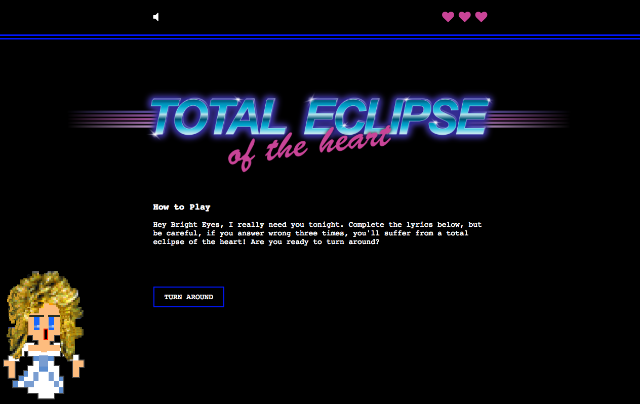 Total Eclipse Of The Heart - JQuery Project Image